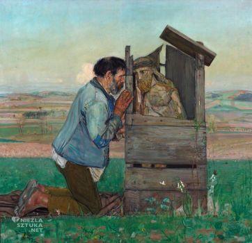 Wlastimil Hofman (Polish, 1881–1970), Confession (1906)