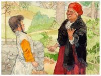 She Found an Old Woman at the Well ~ Jerry Pinkney