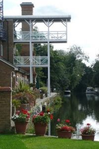 Apartments above Thames Lock, Weybridge, Surrey.  Photo by Graham Horn