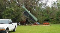 Hurricane Sally Meets Tractor Storage Canopy - Sally Wins!