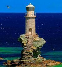 Tourlitis Lighthouse in Greece