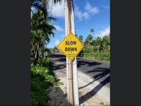 Rarotonga Road Sign