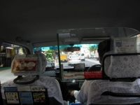 Riding in a Tokyo taxi