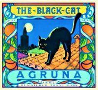 Themes Vintage ads - The Black Cat Orange Citrus Fruit Crate Label