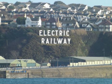 Isle of Man Electric Railway sign at Summerland