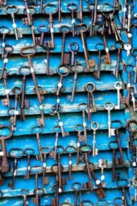 Antique and Vintage Keys at Flea Market in Paris