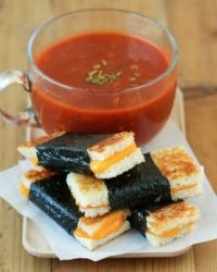 Nori Grilled Cheese Sandwiches with Smokey Tomato Soup