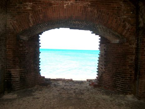 Ocean View from Ft Jefferson Cannon Hole