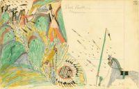 Tall Bull, Cheyenne ~ historical ledger art by Howling Wolf (Southern Cheyenne)