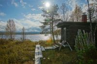 Sauna by a lake - Lapland, Finland
