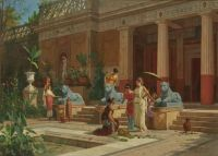 Fruit seller in the courtyard of a Pompeian Villa (1876)