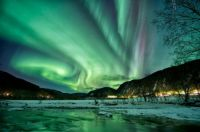 Aurora Borealis over Sona, Norway by Børge Wahl