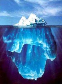 Iceberg: hidden from the eye