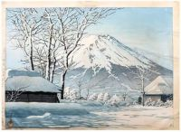 Mount Fuji- Clearing after a Snowfall in Oshiono