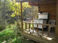 Old stove at fishing cabin.