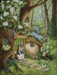 Soft Forest with Mrs. Bunny Rabbit