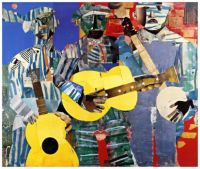 Three Folk Musicians (1967) ~ Romare Bearden