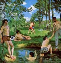 Bathers (Summer Scene) - Koupání (letní scéna)  - 1869