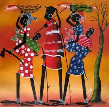 African women .. modern folk art