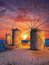 Windmills At Sunset......
