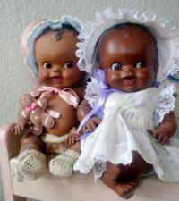 Vintage Rubber Black Baby Dolls