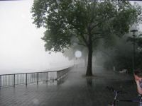 A sudden thunder shower in Cologne, Germany, 2005