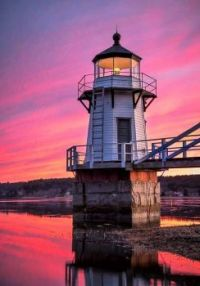 Doubling Point Lighthouse, Kennebec River -- Maine....