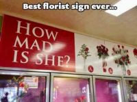 Best florist sign ever!