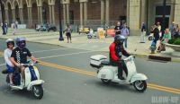 That's me on the white scooter! East Coast Classic Rally in Asbury Park, NJ 2016