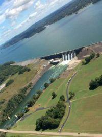 Cherokee Dam with gates open!!!!