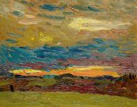 Frühes Morgenglühen, 1937,  Cuno Amiet (1868-1961)