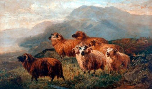 Rocky Landscape with Sheep, 1867 by Joseph Adam