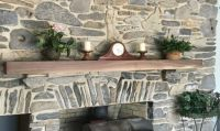 New walnut mantel