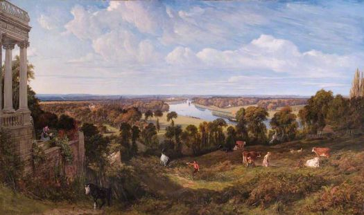 """View from Richmond Hill, Surrey""-John James Chalon"