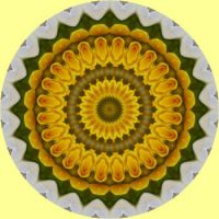 kaleidoscope 347 yellow mandala large