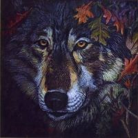 Wolf Art by Mildred King