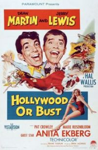 HOLLWOOD OR BUST - 1956 POSTER DEAN MARTIN & JERRY LEWIS