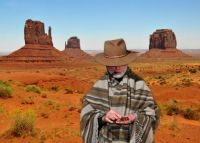 The man with no name at Monument Valley.