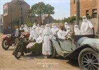 Australian nurses ready to battle the influenza pandemic in Surrey Hills, Sydney in April 1919.