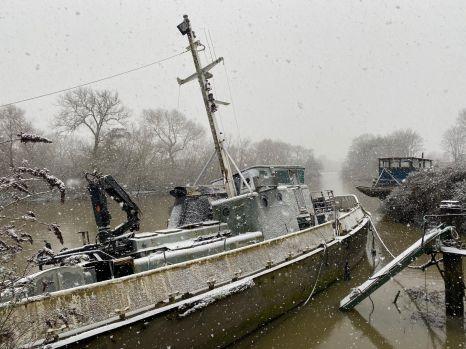 Snow in Brentford