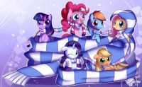 MLP: Little Pony Scarves in Big Scarf by solar_slash