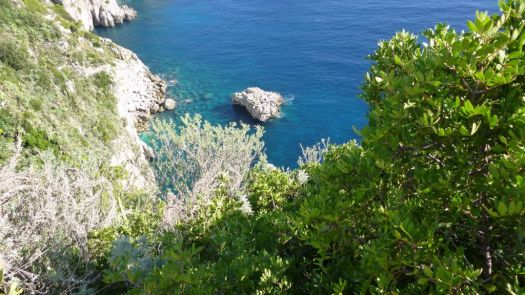 The blue waters of the Isle of Capri