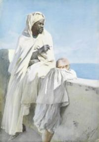 "Anders Zorn, ""A Man and Boy in Algiers"", 1887"