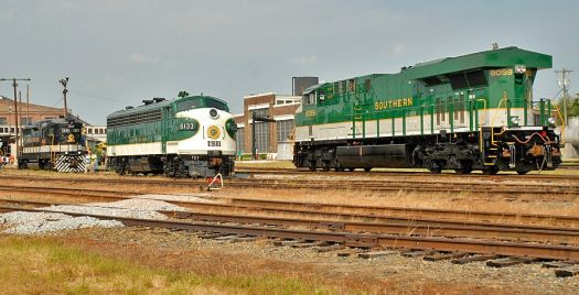 3 Southern Railroad locomotives