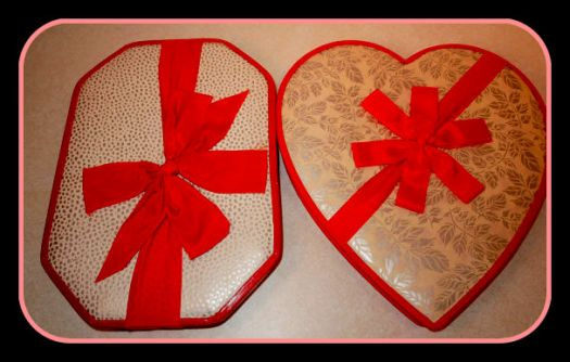 Interesting Pair of Vintage Valentine Chocolate Boxes