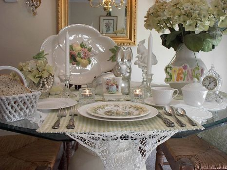 White Tablescape - a Peek at Spring!