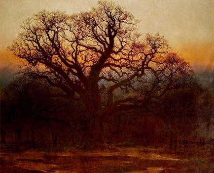 Art UK Major Oak, Sherwood Forest, Nottinghamshire, ANdrew Callum
