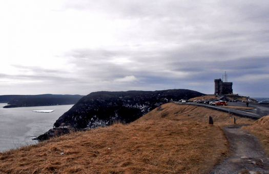 Iceberg with Cabot Tower, Signal Hill, St. John's NL