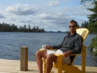 Coffee on Mimi's Dock  2014