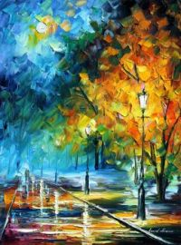 Leonid Afremov Blue Moon